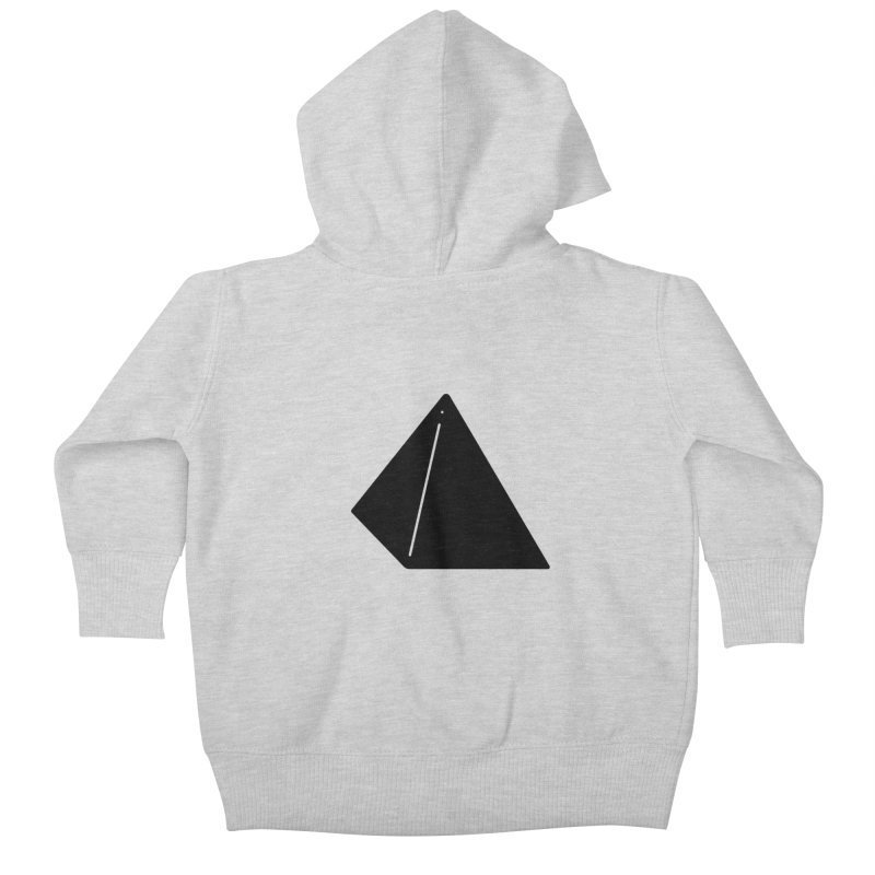 Shapes Pyramid Kids Baby Zip-Up Hoody by Rickard Arvius