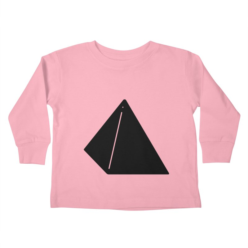 Shapes Pyramid Kids Toddler Longsleeve T-Shirt by Rickard Arvius