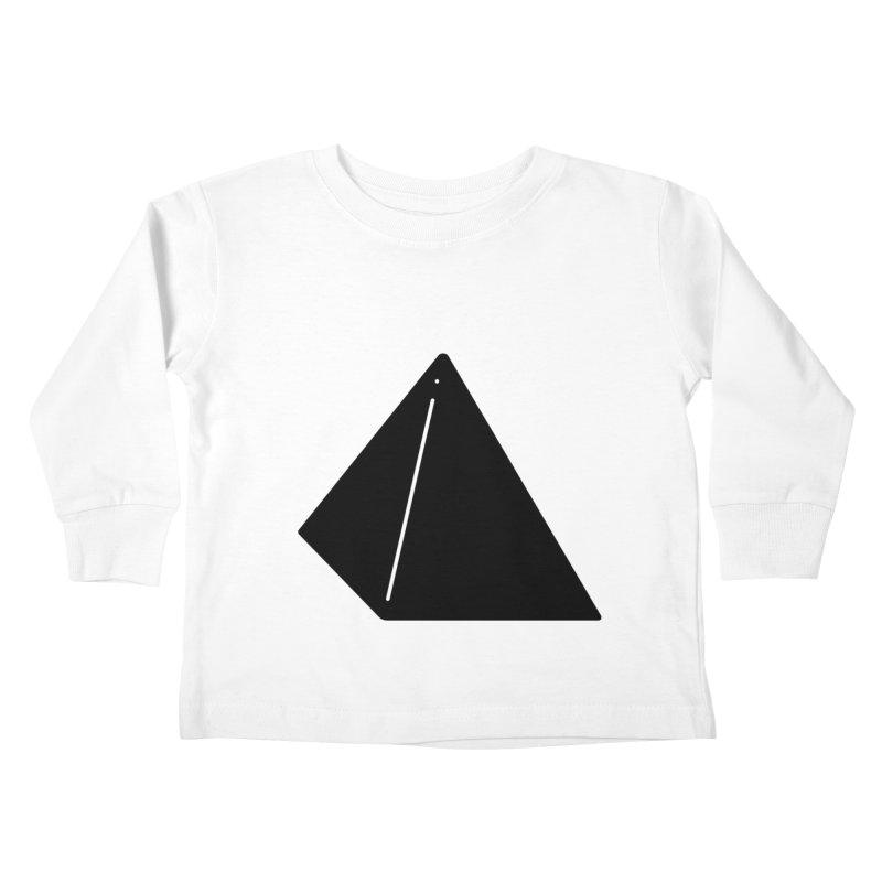 Shapes Pyramid Kids Toddler Longsleeve T-Shirt by Rickard Arvius