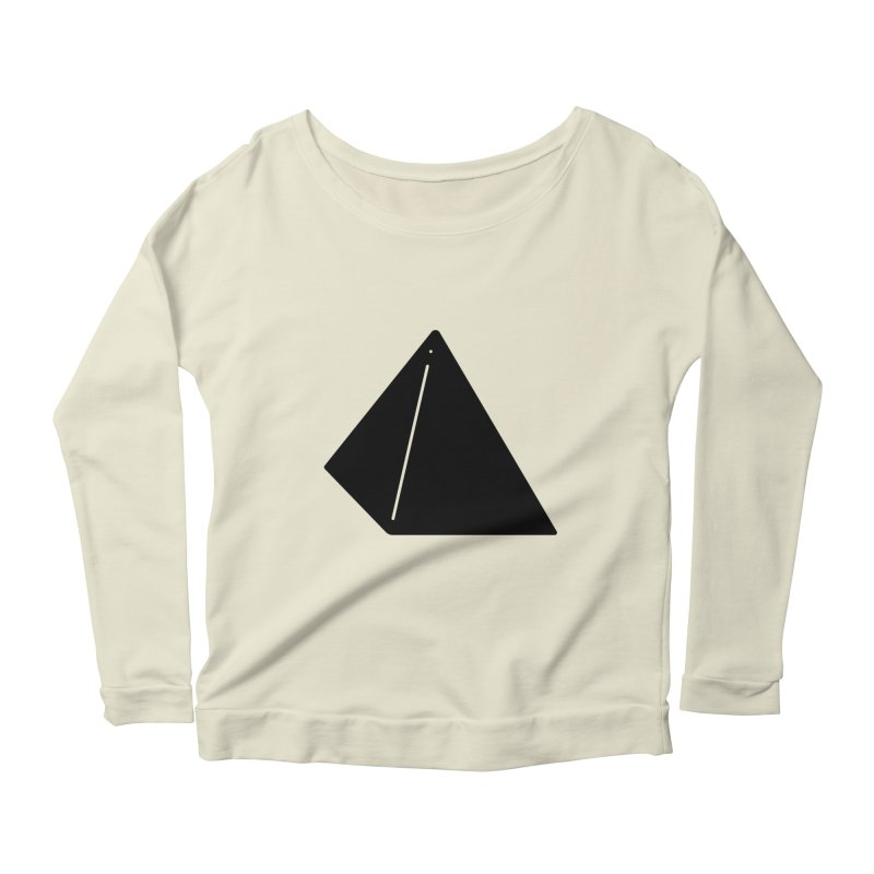 Shapes Pyramid Women's Scoop Neck Longsleeve T-Shirt by Rickard Arvius