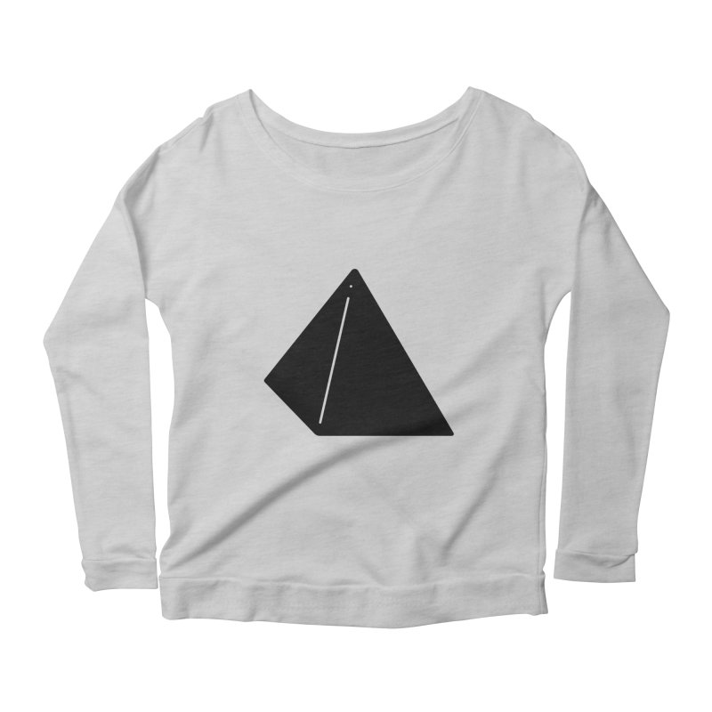 Shapes Pyramid Women's Longsleeve Scoopneck  by Rickard Arvius