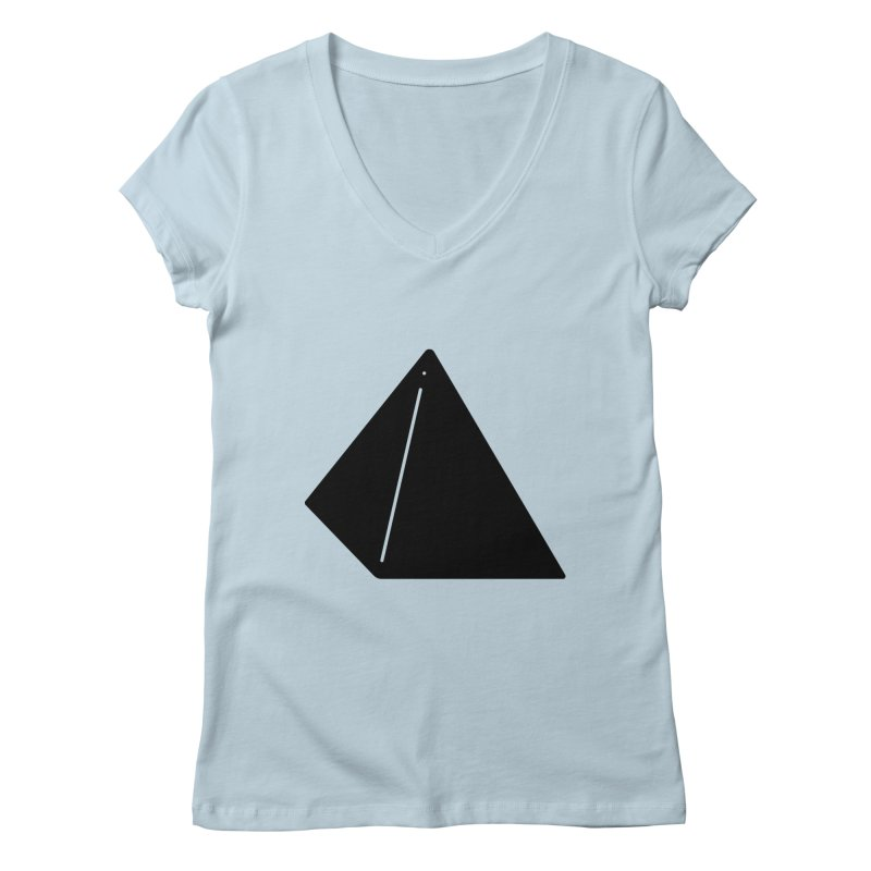 Shapes Pyramid Women's V-Neck by Rickard Arvius