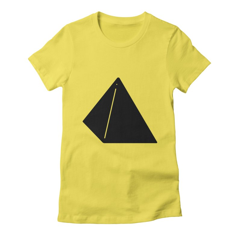 Shapes Pyramid Women's Fitted T-Shirt by Rickard Arvius