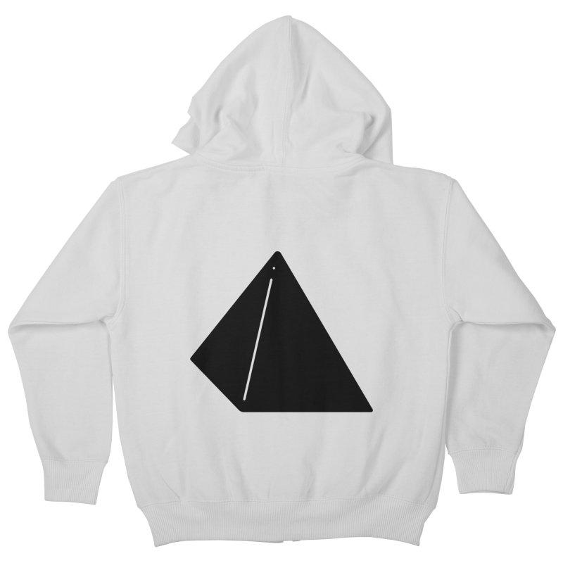 Shapes Pyramid Kids Zip-Up Hoody by Rickard Arvius