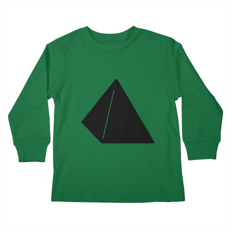 Shapes Pyramid Kids Longsleeve T-Shirt by Rickard Arvius