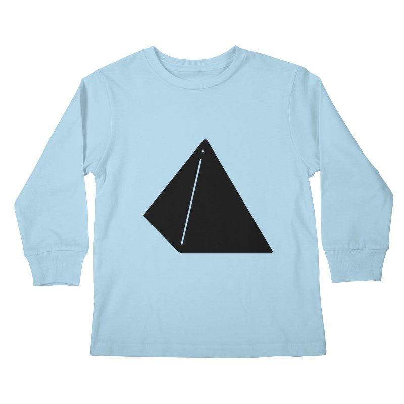 Shapes Pyramid Kids Longsleeve T-Shirt by Rickard Arvius