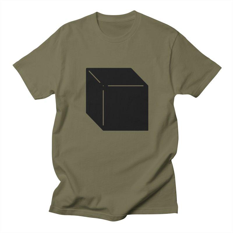 Shapes Cube Men's Regular T-Shirt by Rickard Arvius
