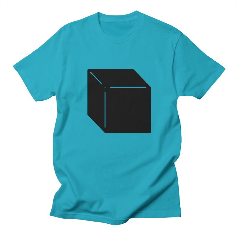 Shapes Cube Men's Regular T-Shirt by Rickard Arvius