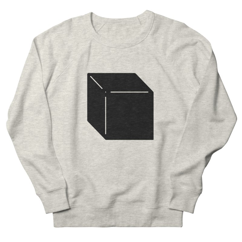 Shapes Cube Men's French Terry Sweatshirt by Rickard Arvius