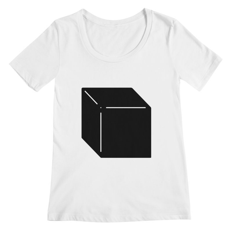 Shapes Cube Women's Regular Scoop Neck by Rickard Arvius