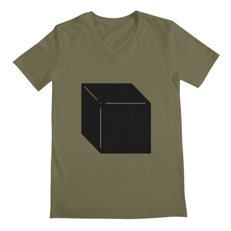 Shapes Cube Men's V-Neck by Rickard Arvius
