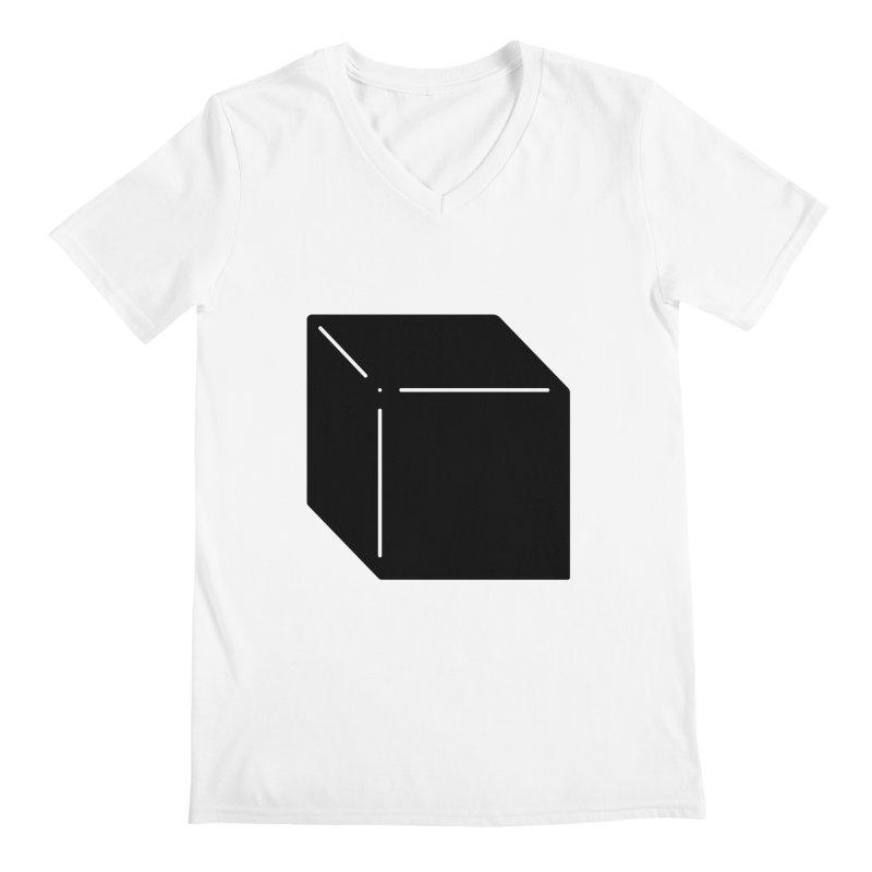 Shapes Cube Men's Regular V-Neck by Rickard Arvius