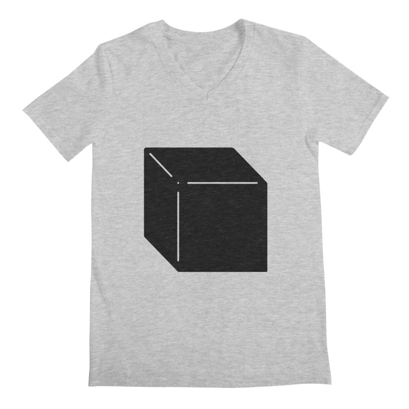 Shapes Cube Men's Regular V-Neck by Rickard Arvius