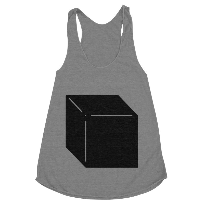 Shapes Cube Women's Racerback Triblend Tank by Rickard Arvius