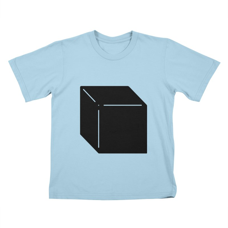 Shapes Cube Kids T-Shirt by Rickard Arvius