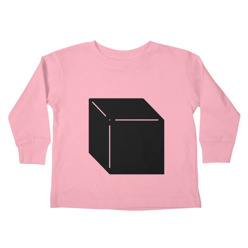 Shapes Cube Kids Toddler Longsleeve T-Shirt by Rickard Arvius