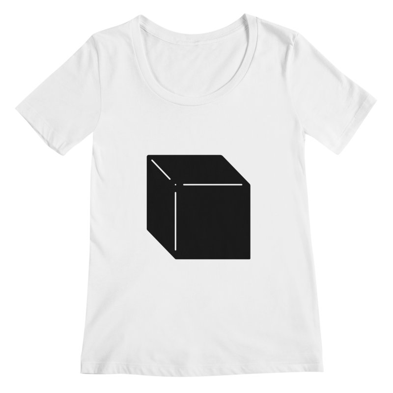 Shapes Cube Women's Scoopneck by Rickard Arvius