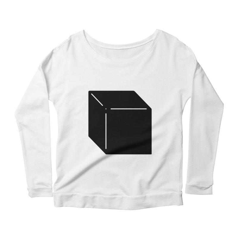 Shapes Cube Women's Longsleeve Scoopneck  by Rickard Arvius