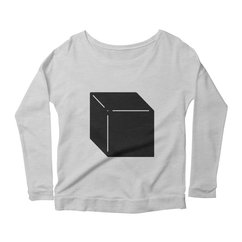 Shapes Cube Women's Scoop Neck Longsleeve T-Shirt by Rickard Arvius