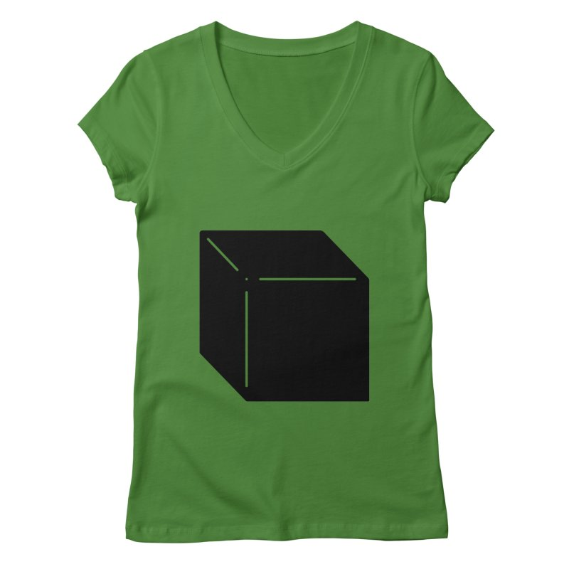 Shapes Cube Women's Regular V-Neck by Rickard Arvius