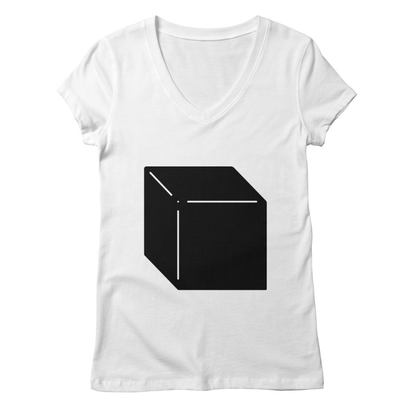 Shapes Cube Women's V-Neck by Rickard Arvius