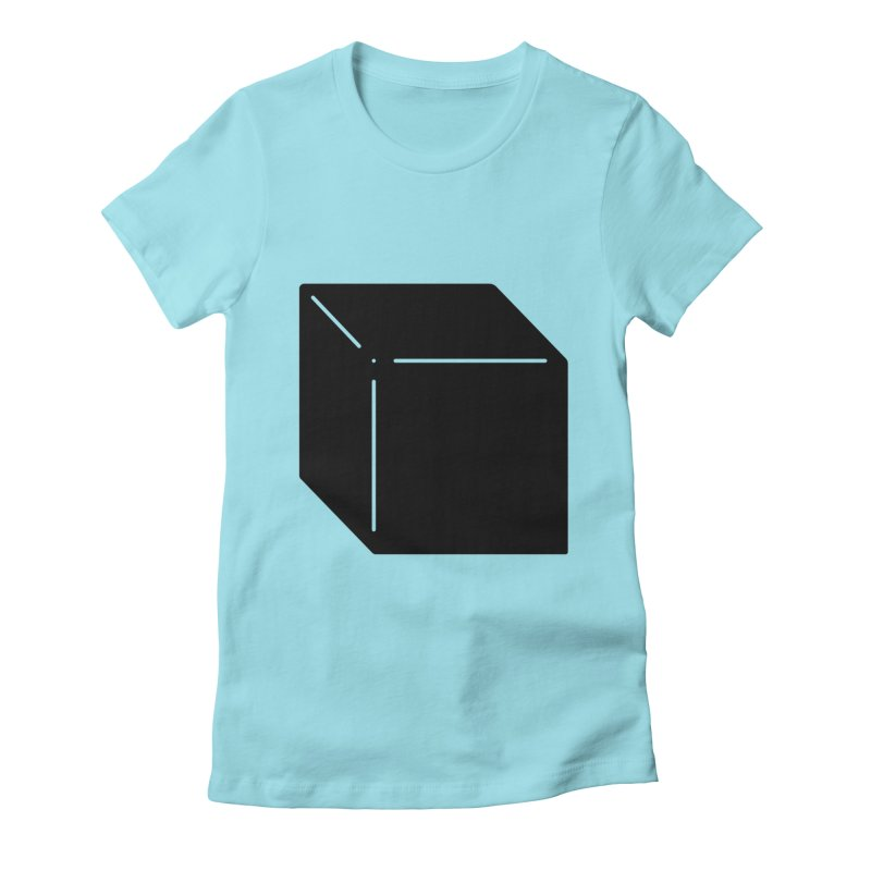 Shapes Cube Women's Fitted T-Shirt by Rickard Arvius