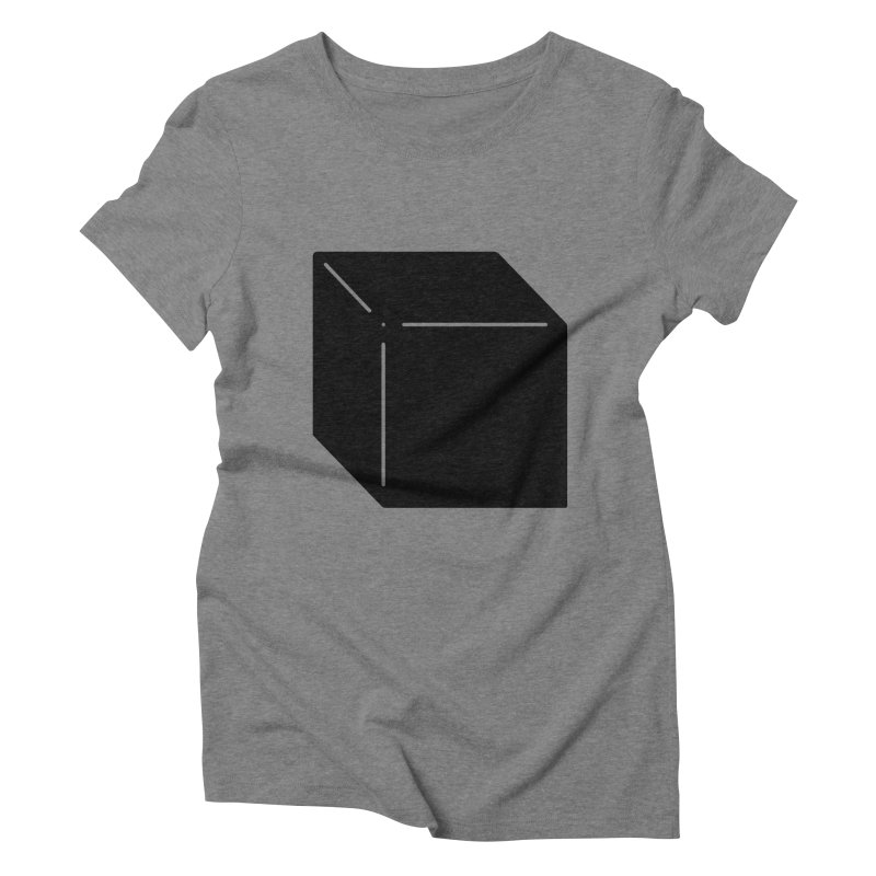 Shapes Cube Women's Triblend T-Shirt by Rickard Arvius