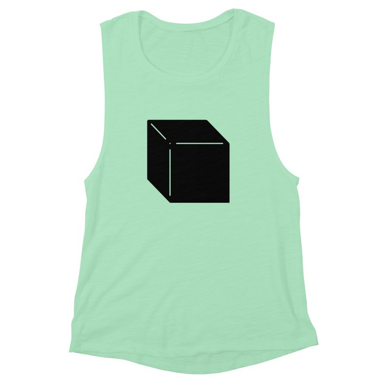Shapes Cube Women's Muscle Tank by Rickard Arvius