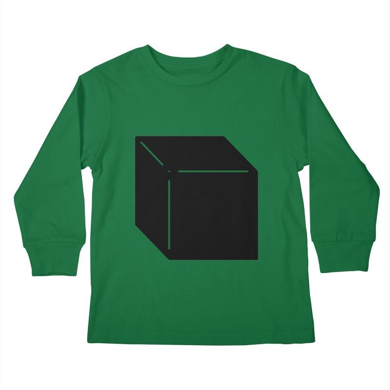 Shapes Cube Kids Longsleeve T-Shirt by Rickard Arvius