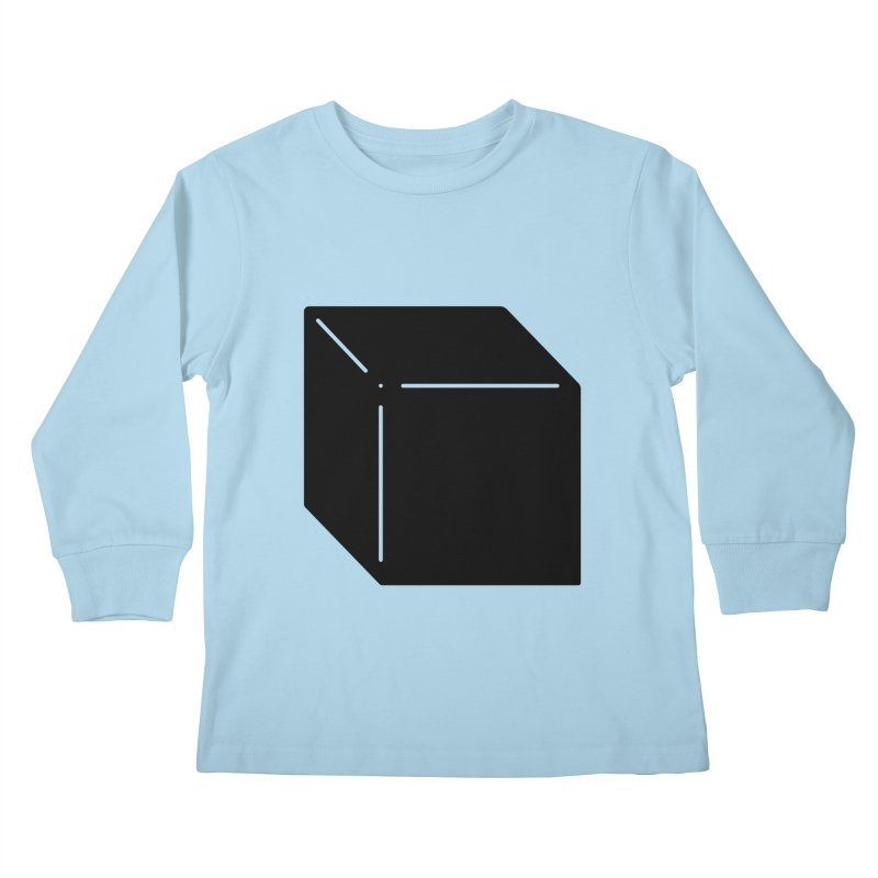 Shapes Cube Kids Longsleeve T-Shirt by Rickard Arvius