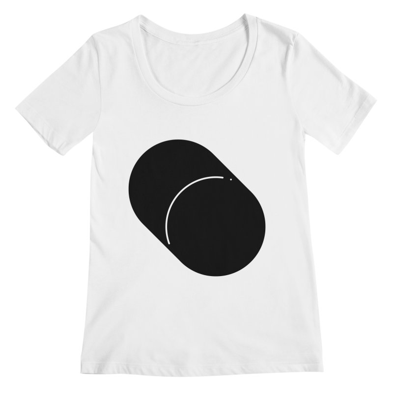 Shapes Cylinder Women's Regular Scoop Neck by Rickard Arvius