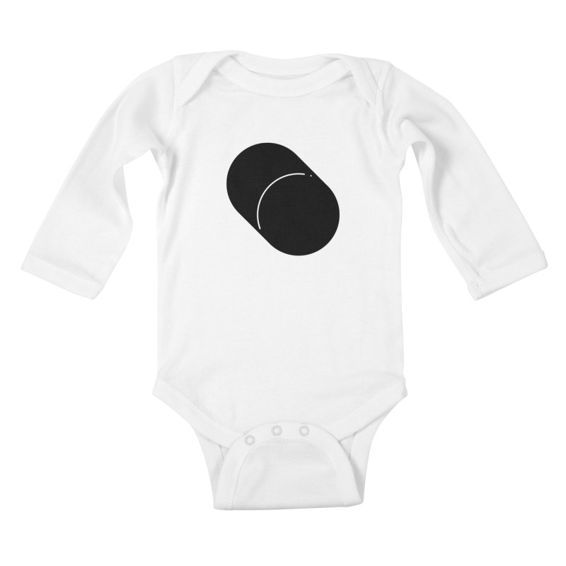 Shapes Cylinder Kids Baby Longsleeve Bodysuit by Rickard Arvius