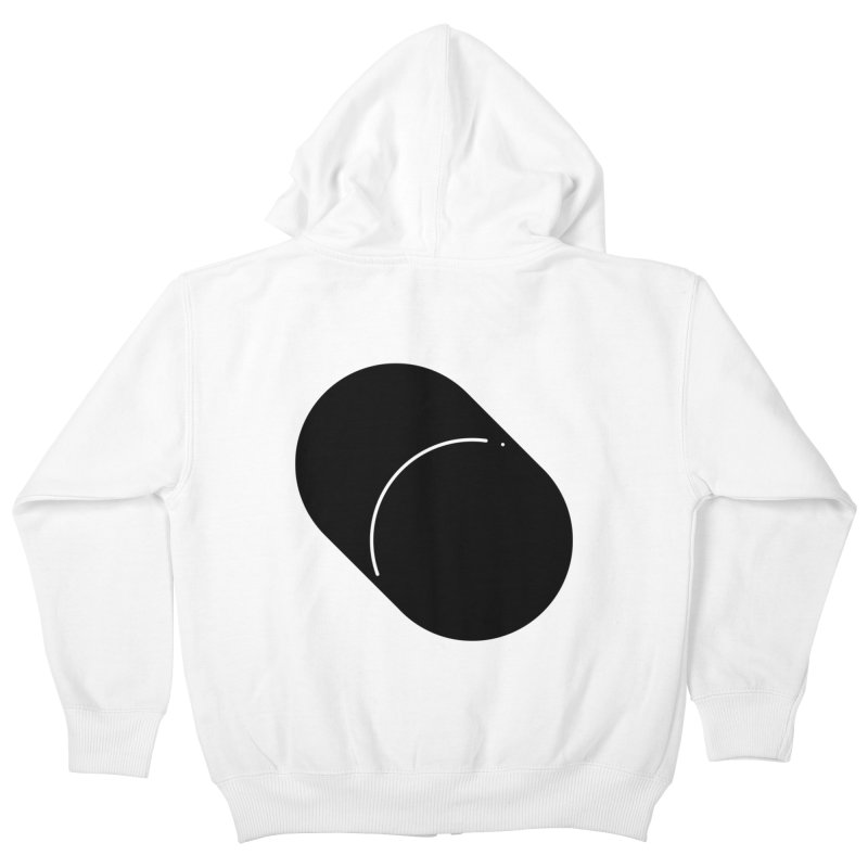 Shapes Cylinder Kids Zip-Up Hoody by Rickard Arvius