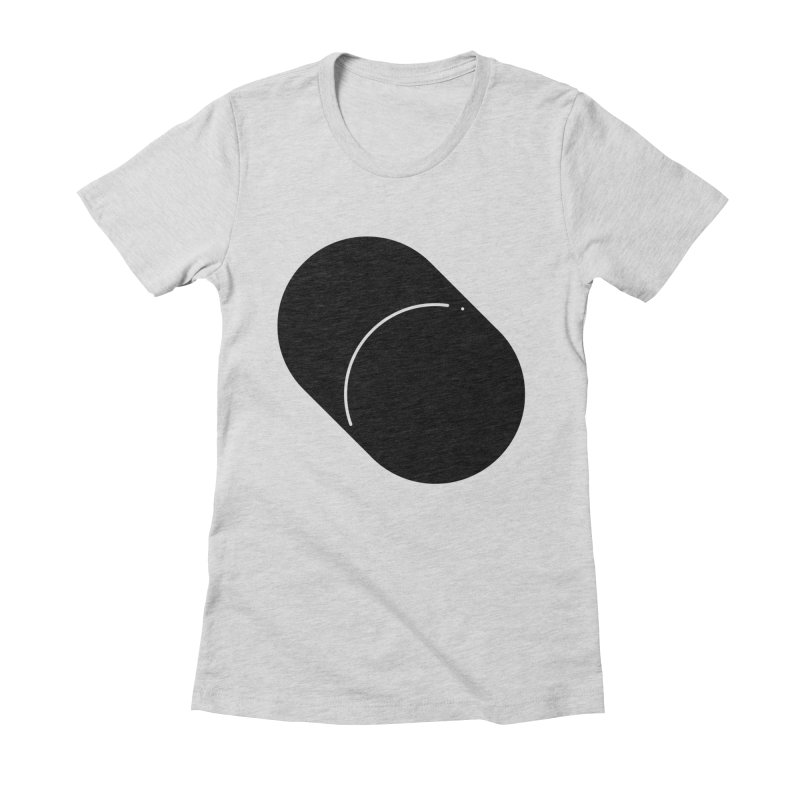 Shapes Cylinder Women's Fitted T-Shirt by Rickard Arvius