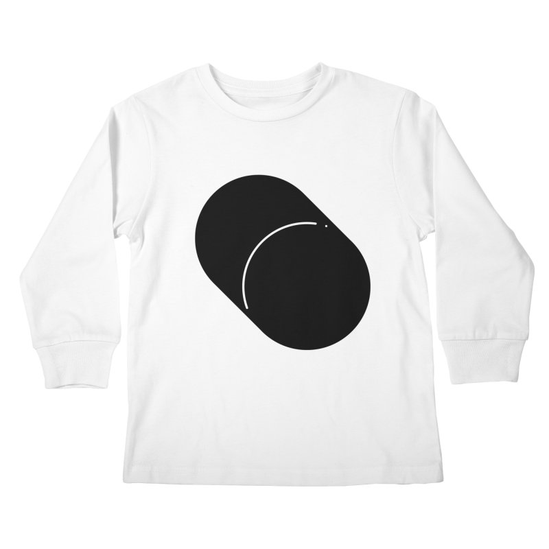 Shapes Cylinder Kids Longsleeve T-Shirt by Rickard Arvius