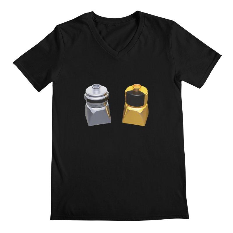 Duplo Daft Punk Men's V-Neck by Rickard Arvius