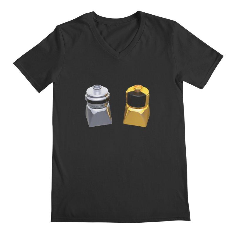 Duplo Daft Punk Men's Regular V-Neck by Rickard Arvius