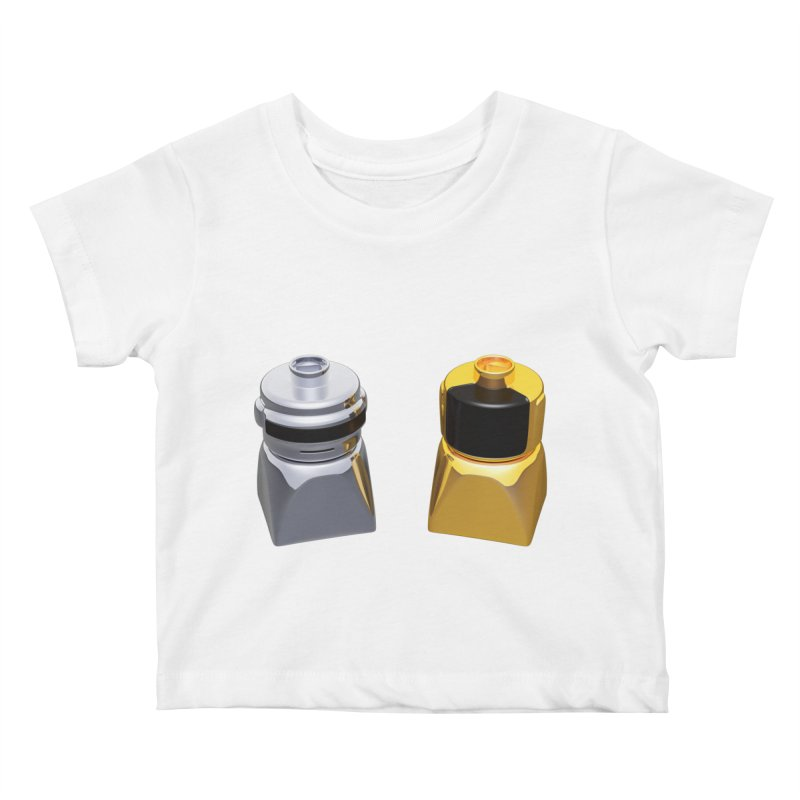 Duplo Daft Punk Kids Baby T-Shirt by Rickard Arvius
