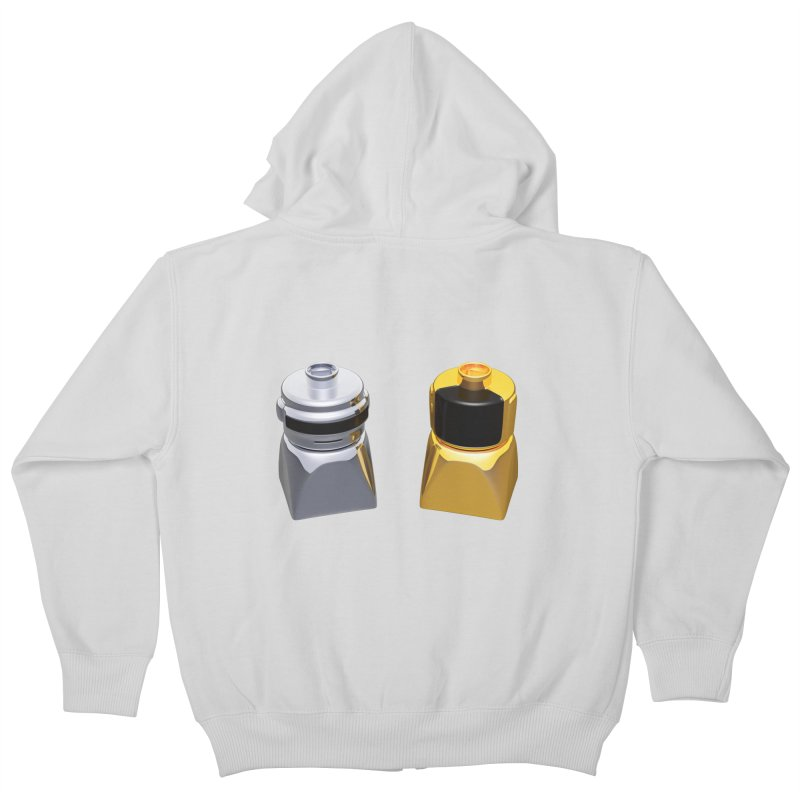 Duplo Daft Punk Kids Zip-Up Hoody by Rickard Arvius