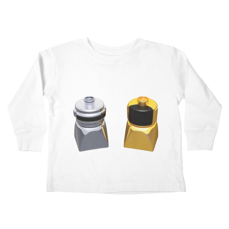 Duplo Daft Punk Kids Toddler Longsleeve T-Shirt by Rickard Arvius