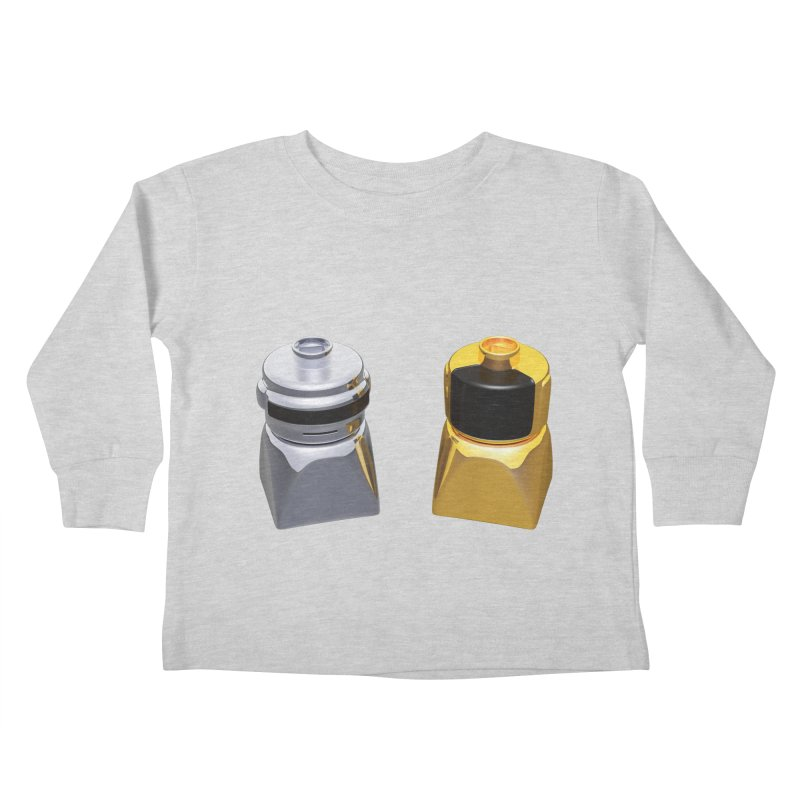 Duplo Daft Punk Kids Toddler Longsleeve T-Shirt by Rickard Arvius