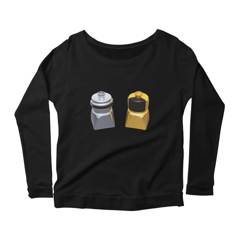Duplo Daft Punk Women's Longsleeve Scoopneck  by Rickard Arvius