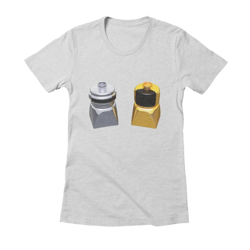 Duplo Daft Punk Women's Fitted T-Shirt by Rickard Arvius