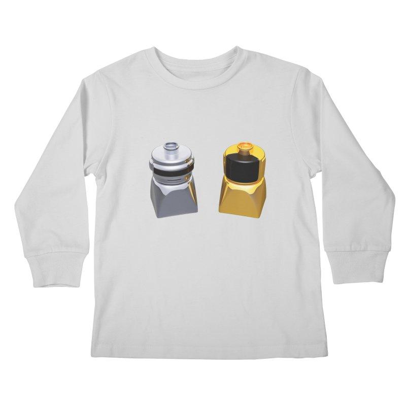 Duplo Daft Punk Kids Longsleeve T-Shirt by Rickard Arvius
