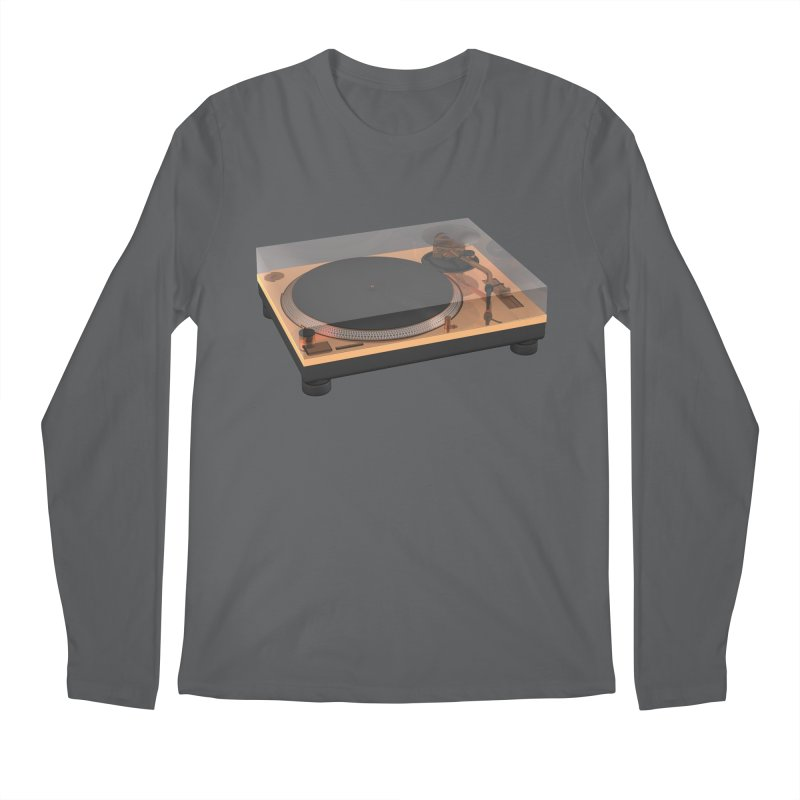 Golden Turntable Men's Longsleeve T-Shirt by Rickard Arvius