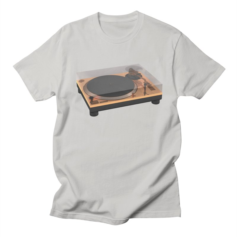 Golden Turntable Men's Regular T-Shirt by Rickard Arvius