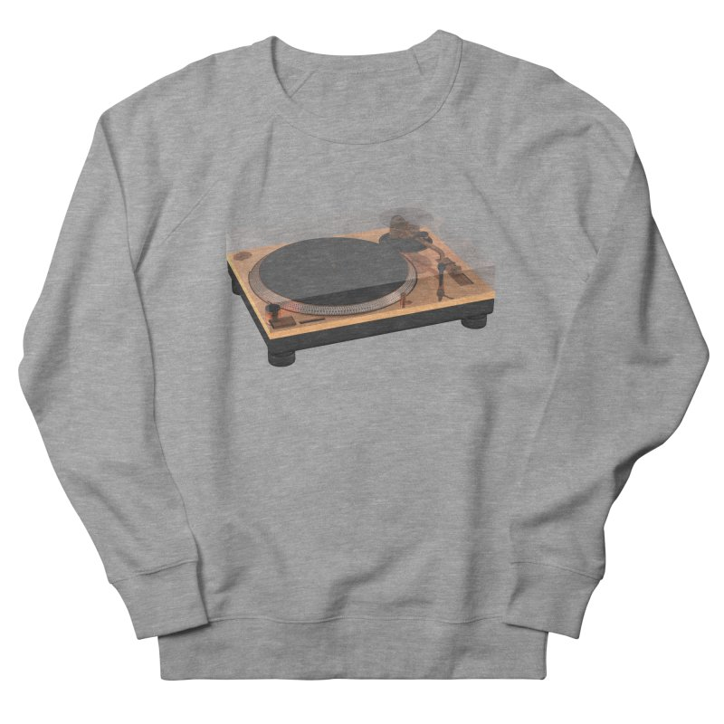 Golden Turntable Women's French Terry Sweatshirt by Rickard Arvius