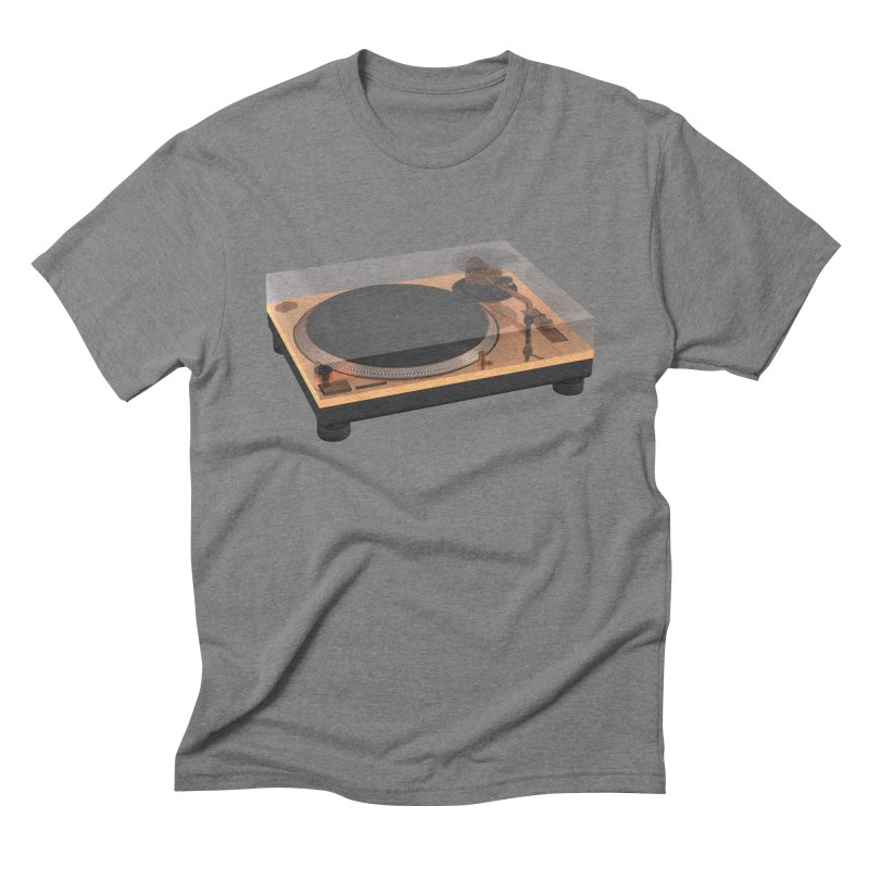 Golden Turntable Men's Triblend T-Shirt by Rickard Arvius