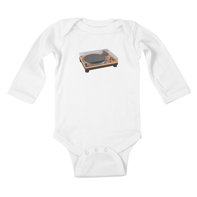 Golden Turntable Kids Baby Longsleeve Bodysuit by Rickard Arvius