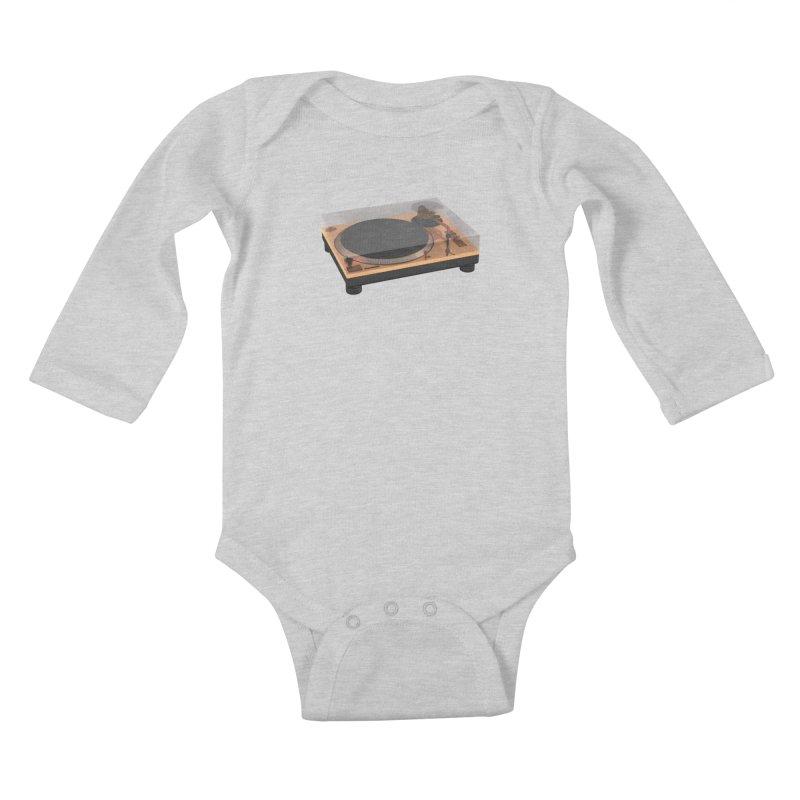 Golden Turntable Kids Baby Longsleeve Bodysuit by Rickard Arvius